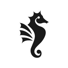 seahorse logo. sea animal icon. symbol. vector eps 08.