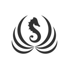 seahorse logo. sea animal icon. symbol. vector eps 08.