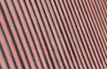 Metallwand eines Containers im Detail