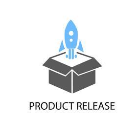 Fototapeta Product release icon obraz