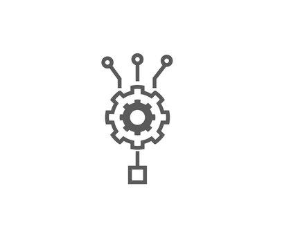 intelligence algorithm icon