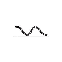 Worm vector icon