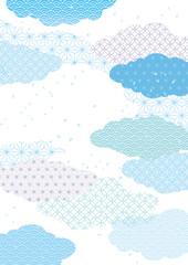 雲和 明るい 青
