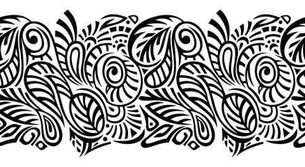 Seamless vector tribal border