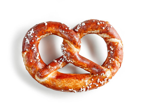 freshly baked pretzel