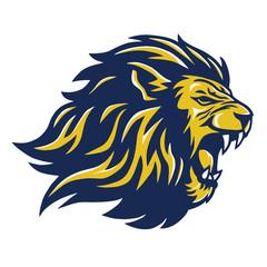 Fototapeta Wild Lion Head Mascot