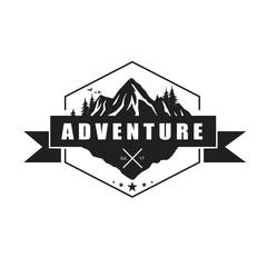 Mountain Adventure Logo Template. Vector Illustrator Eps.10