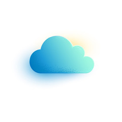 Cloud vector icon. Gradient Illustration sign isolated on white. Cloud computing, weather, summer, Technology Save share data information concept. Design Logo mobile app, website social media, UI, EPS