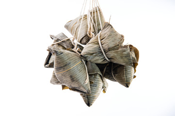 Zongzi or rice dumpling on Dragon Boat Festival, Asian traditional food