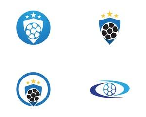 Football icon logo vector template