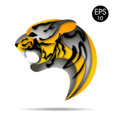 Tiger logo. Vector illustration