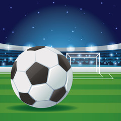 Football stadium with fans graphic vector illustration graphic design