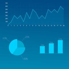 Vector chart, financial charts