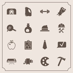 Modern, simple vector icon set with kitchen, fire, organic, spanner, olive, blossom, picture, pan, pasta, floral, healthy, palette, can, christmas, image, wrench, air, equipment, tool, style icons
