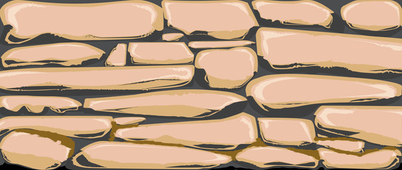 Dry Stone Wall As A Banner Background
