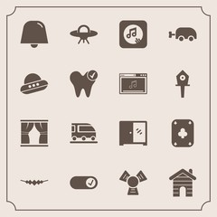 Modern, simple vector icon set with spaceship, poker, game, online, vehicle, baby, business, cold, transport, ufo, curtain, dentist, interior, alien, transportation, spacecraft, carriage, home,  icons