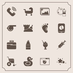 Modern, simple vector icon set with photo, check, website, image, frame, button, handicap, equipment, paint, night, picture, sweet, medical, food, web, sky, drill, child, ice, duck, sign, bag icons