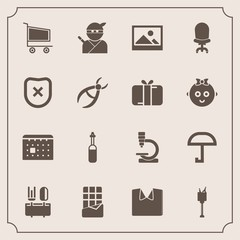 Modern, simple vector icon set with spoon, clothing, biology, technology, weather, ice, medicine, bucket, japan, shirt, bar, samurai, cart, research, sweet, equipment, japanese, restaurant, tool icons