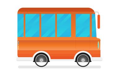 Vector illustration of a travel van