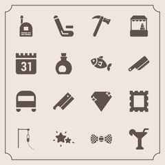 Modern, simple vector icon set with medical, competitive, martini, tie, market, tool, fashion, equipment, wrench, spanner, elegance, championship, child, nature, frame, night, bow, picture, bus icons