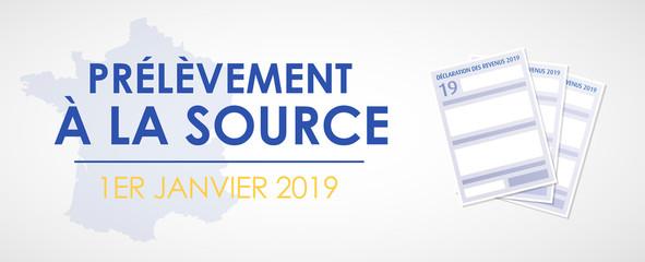 impôts - prélèvement à la source - janvier 2019