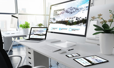 office responsive devices design website