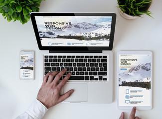 office tabletop cool responsive design website