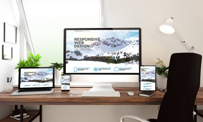 window office desktop devices responsive website Wall mural