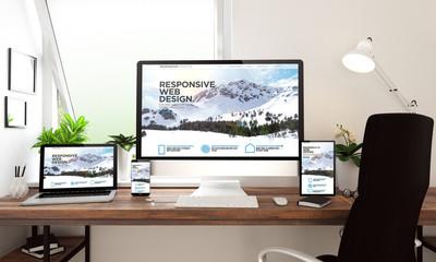 window office desktop devices responsive website