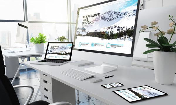 office responsive devices design website