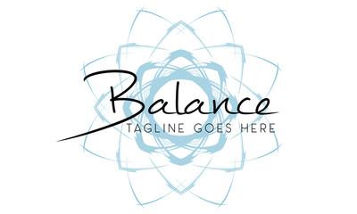 Balance Yoga Fitness Coach Logo Design