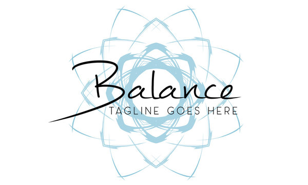 Balance Yoga Fitness Coach Logo Design