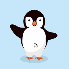little Penguin animal vector