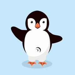 little Penguin animal vector