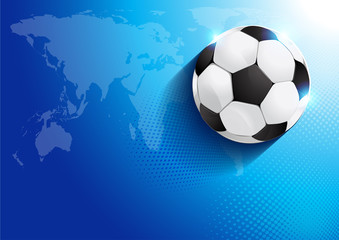 Soccer in goal, vector illustration, show good color resukts RGB COLOR MODE, you can place relevant content on the area.