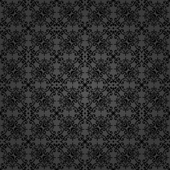 Orient dark vector classic pattern. Seamless abstract background with vintage elements. Orient background. Ornament for wallpaper and packaging