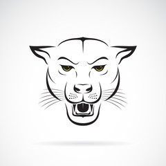 Vector of an angry panther head on white background. Wild Animals. Vector illustration. Easy editable layered vector illustration.