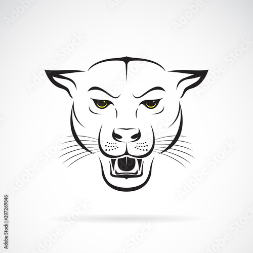 29c77dc0f41 Vector of an angry panther head on white background. Wild Animals. Vector  illustration. Easy editable layered vector illustration.
