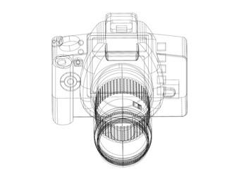 Camera Architect blueprint - isolated