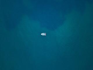 White boat in a blue ocean, Australia