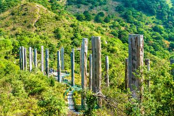 Wisdom Path on Lantau Island in Hong Kong, China