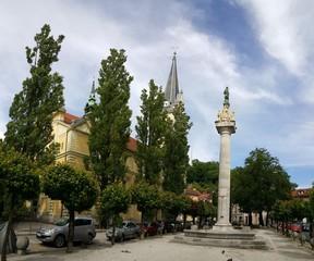 Statue in Ljubljana city, Slovenia