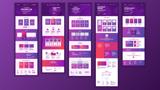 Main Web Page Design Vector. Website Business Style. Landing Template. Abstract Project Cover. Credit Customer. Introduction Team. Idea Structure. Illustration