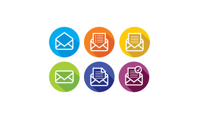 email  letter  paper icon logo vector