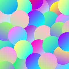 Background of multi-colored gradient balls