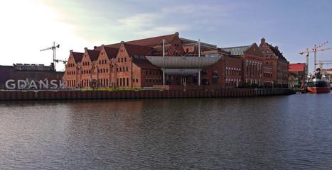 Polish Baltic Philharmonic stock images. Polish modern architecture. Philharmonic in Gdansk