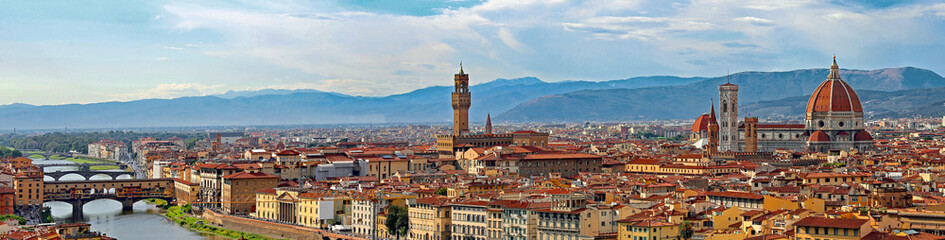 Florence Italy Incredible Cityscape with Arno River Old Palace a