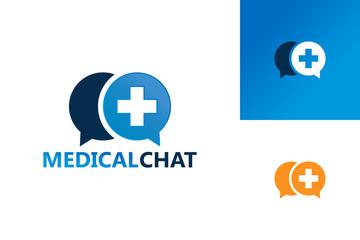 Medical Chat Logo Template Design Vector, Emblem, Design Concept, Creative Symbol, Icon