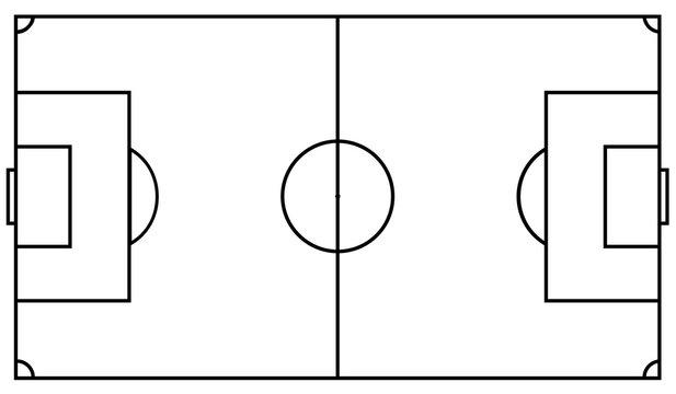 Football field. Vector illustration eps 10