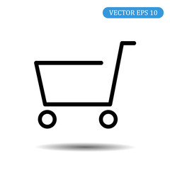 Cart icon. Vector illustration eps 10